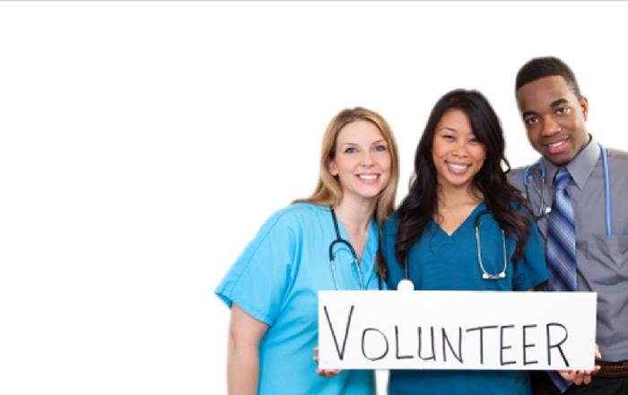volunteer at hospitals