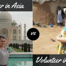 Volunteering in Asia vs Volunteering in Africa